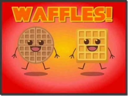 waffle cartoon