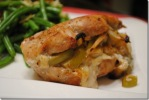 Gorgonzola and Apple Stuffed Pork Chops