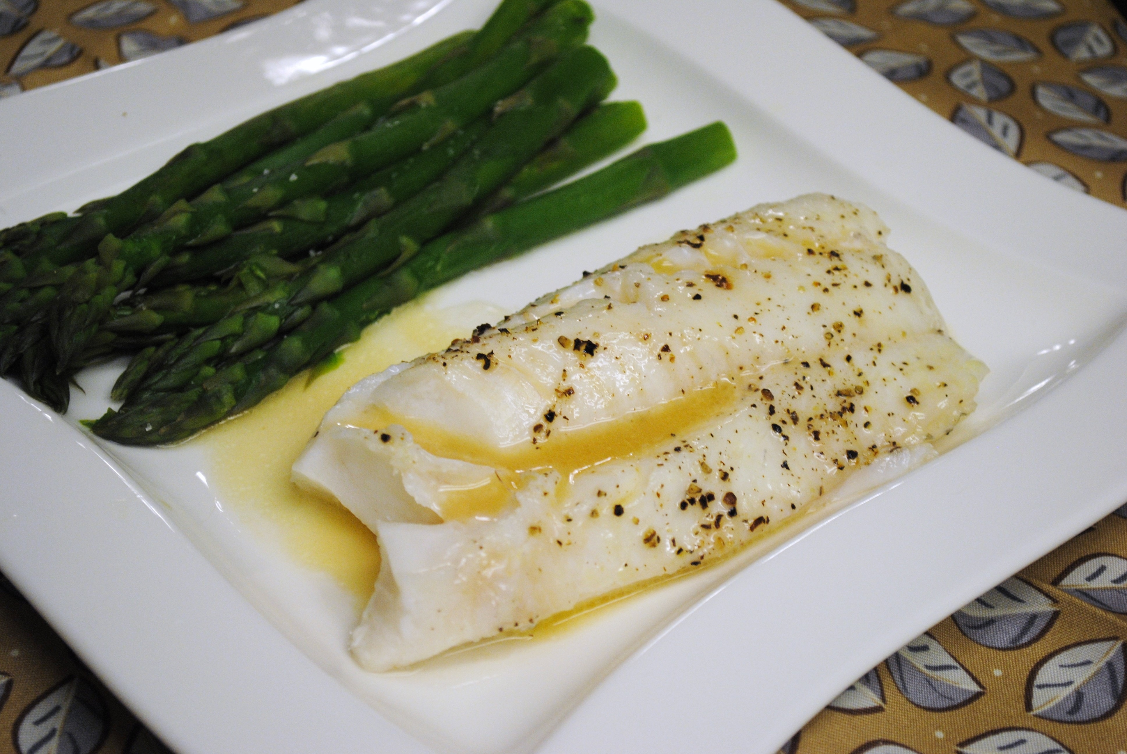 Baked Cod with White Wine Reduction | Leftovers For Lunch