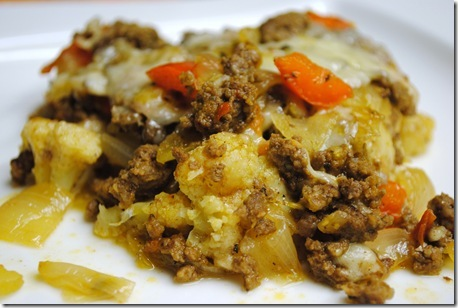 Cauliflower and Beef Casserole   Leftovers For Lunch