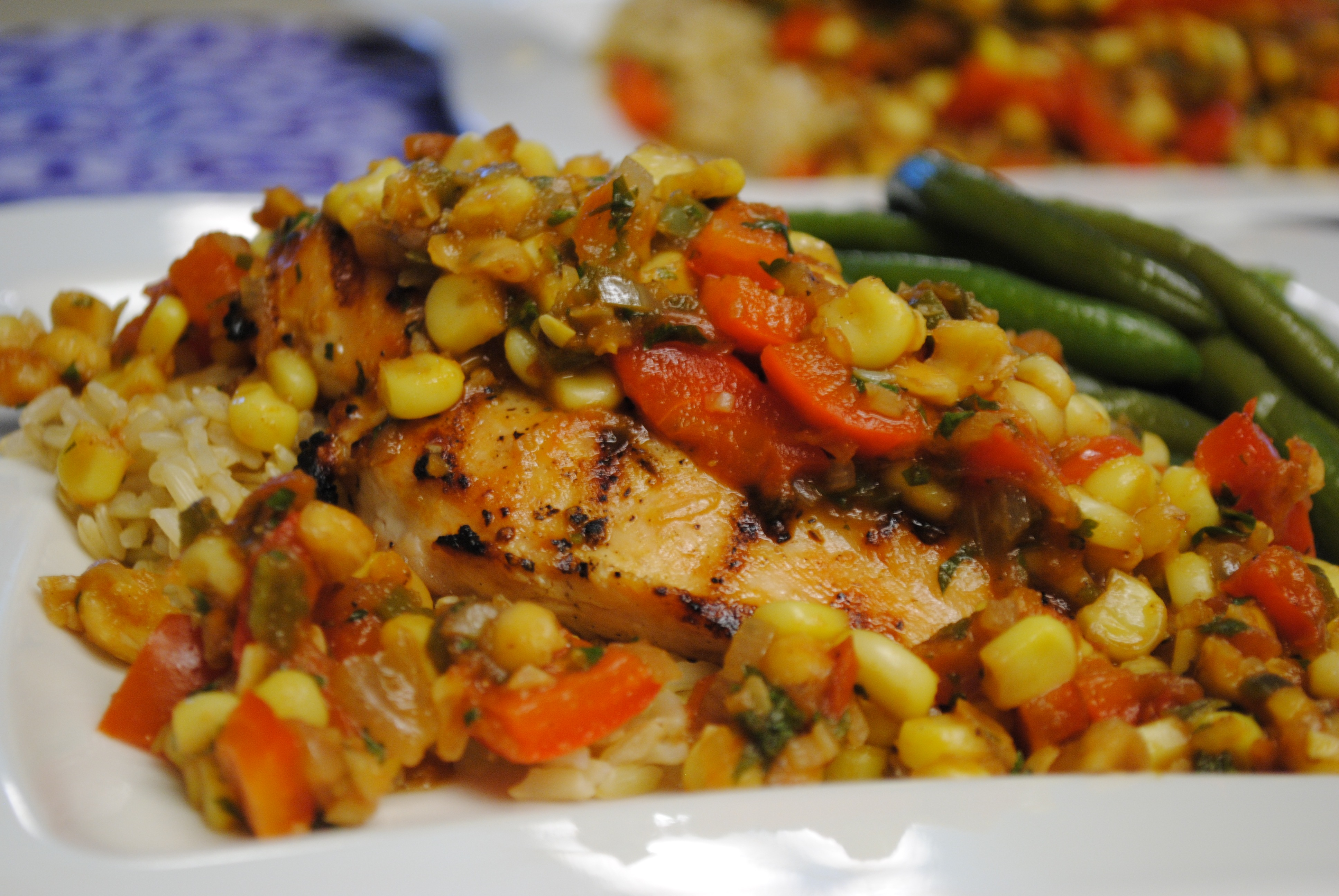 ... KITCH: Grilled Chicken with Spicy Corn Relish | Leftovers For Lunch
