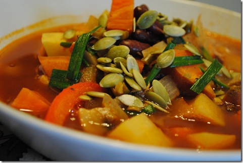 Braised Sweet Potato and Kidney Beans 027