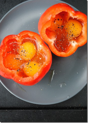 Grilled Peppers with Eggs 003