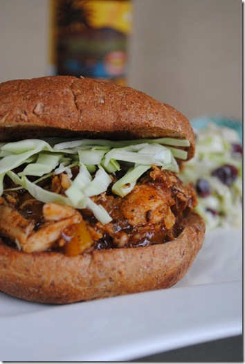 Whiskey Mango BBQ Chicken Sandwich 061