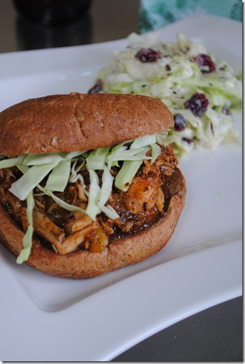 Whiskey Mango BBQ Chicken Sandwich 063
