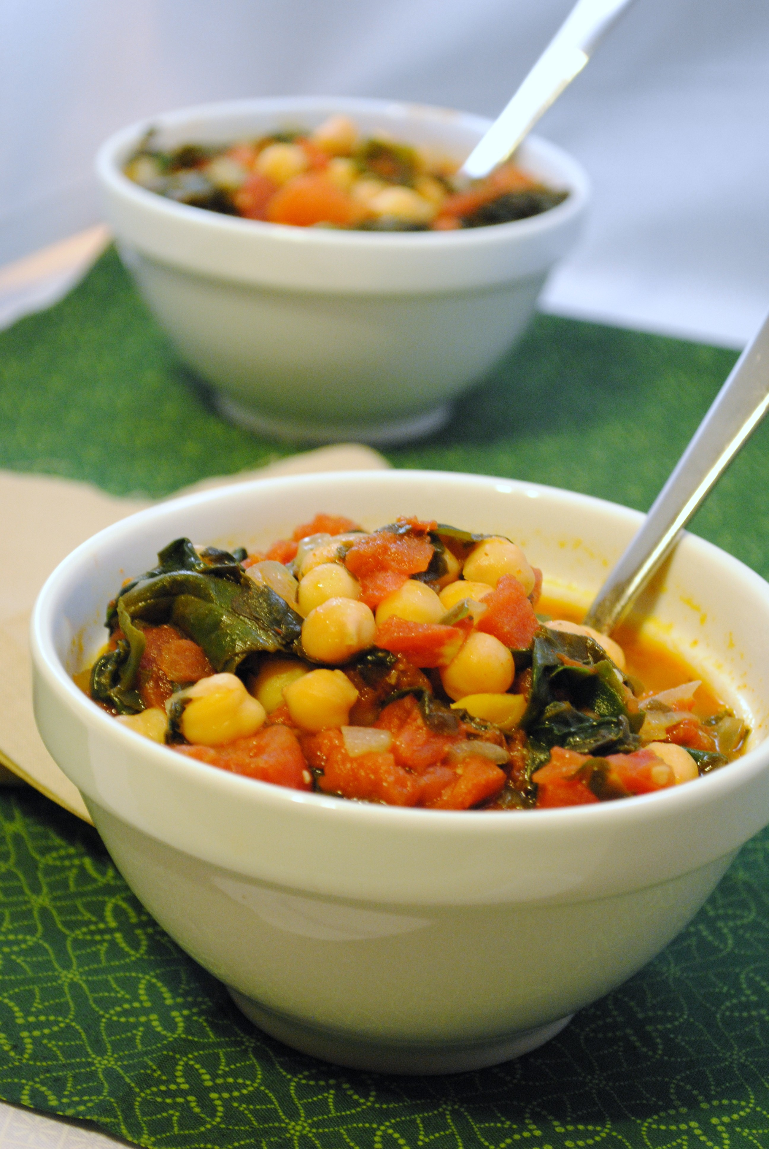 Spanish Chickpea and Spinach Stew | Leftovers For Lunch